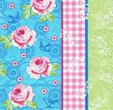 KV 089 - ubrousek 33x33 -růže patchwork