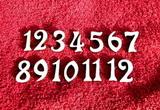 **Sada čísel na hodiny ozdobná v. cca 1,9cm