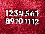 **Sada čísel na hodiny č.20- v. cca 1,9cm