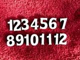 **Sada čísel na hodiny č.21- v. cca 1,9cm