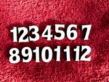 **Sada čísel na hodiny č.21- v. cca 2,5cm