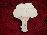2D výřez brokolice - v. cca 13,5x11,5cm