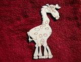 2D výřez žirafa - v. cca 16x11cm
