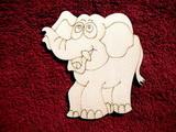 2D výřez slon - v. cca 11,5x11,5cm