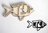 Razítko překližka rybka-v.3,8x6,5cm