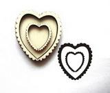 Razítko překližka srdce uvnitř srdce-v.4,5x4cm