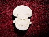2D výřez houba s jmenovkou-v.7x5,4cm