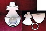 Stojánek na čajovou svíčku anděl-v.10x8cm
