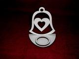 Stojánek na čajovou svíčku zvon+srdce