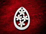 2D výřez vejce+květinky malé-v. 8x5,3cm