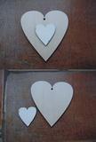 2D výřez srdíčko+srdíčko v.10,2x10,8cm