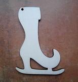 2D výřez bruslička bota špič.- v.10x7cm