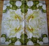 VM 084-ubrousek 33x33 -květina+ozdoby