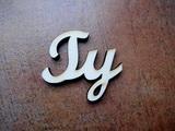 2D výřez nápis Ty - cca v.6x6,9cm