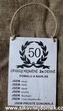 Cedulka 50 pro ženy... 14x20m-hnědo-bílá