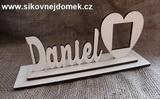 Nápis Daniel velikost 6,5x13cm+podložka+rám foto