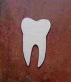 2D výřez zub čistý - 8x5cm