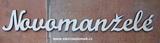 2D výřez nápis Novomanželé 5x37cm