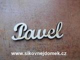2D výřez jméno Pavel SC - vel. cca 4,5x13,5cm