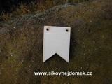 2D výřez vlaječka svatební - v.3,5x2,5cm