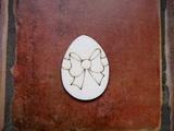 2D výřez vejce+mašle- v.6x4,5cm