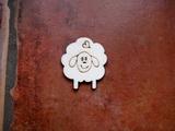 2D výřez ovečka se srdíčkem- cca v.4,5x3,7cm