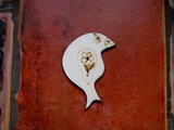 2D výřez ptáček č.1- cca v.6,6x5,8cm