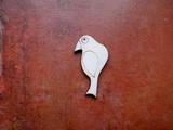 2D výřez ptáček čistý č.3- cca v.4,8x2,6cm