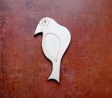2D výřez ptáček čistý č.3- cca v.6,6x3,5cm