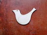 2D výřez ptáček čistý č.2- cca v.6,4x4,6cm