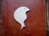 2D výřez ptáček čistý č.1- cca v.6,6x5,8cm