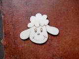 2D výřez na špejli ovce-v.5x6,4cm