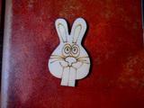 2D výřez na špejli zajíc-v.6,2x3,7cm