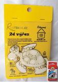 BAL-2D výřez želva- cca v.8x10,2cm+pastelky