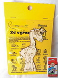 BAL- 2D výřez žirafa - v. cca 12x7,5cm+pastelky