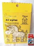 BAL-2D výřez zebra -v.8,9x8,9cm+pastelky