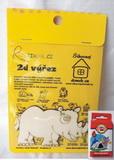 BAL-2D výřez nosorožec v. cca 6x10cm+pastelky