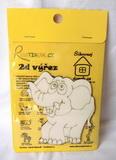 BAL- 2D výřez slon - v. cca 8,5x8,5cm