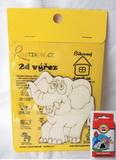 BAL- 2D výřez slon - v. cca 8,5x8,5cm+pastelky