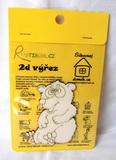 BAL-2D výřez medvídek - v. cca 9,6x7cm