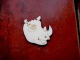 2D výřez na špejli nosorožec-v.5x4,9cm