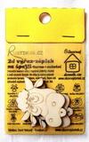BAL-2D výřez na špejli kravička č.2-v.5x4,7cm-2ks v balení