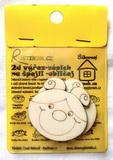 BAL-2D výřez na špejli holčička beruška-v.5x5,2cm-2ks v balení