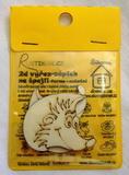 BAL- 2D výřez na špejli ježek - v.4,6x5,6cm -2ks v balení
