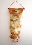 Vak na PE tašky - batika + razítka z moosgummi