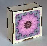 Dřevěná krabička s mandalou pro vědomé jednání