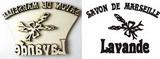 Razítko překližka Lavande-Savon de.... v.7,4x10,8cm