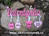 Jméno Valentýnka+narození -dekor