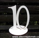 2D výřez číslo 10+podložka 15x12,5cm
