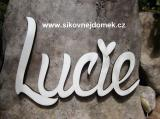 2D výřez nápis Lucie - v.11,2x15,1cm